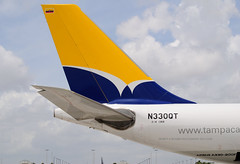 Tampa Tail (Infinity & Beyond Photography) Tags: vertical plane tampa airplane colombia aircraft tail cargo airbus a330 freighter stabilizer a330200f n330qt
