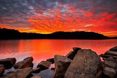 FCF Sunrise Re edit (dkinner) Tags: sunrise tennessee fallcreekfalls 14mm xe1