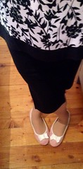 Top from Dunnes Stores,skirt from Forever21, flats from Penneys (shuzzzthing) Tags: tv ballerina cd tights skirt flats pantyhose heelpopping