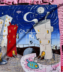We Are Made Of Dreams And Bones (snapscot) Tags: pink streetart art graffiti losangeles mural paint murals dreams streetsy amos differentstrokes toeachhisown liveandletlive amemory losangelesstreetart gardensong wearemadeofdreamsandbones preservationofart
