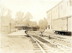 Westerly view towards Milton Railroad, No. 359 (Boston City Archives) Tags: boston publictransit dorchester historicboston historicdorchester dorchesterrapidtransit transitdepartment