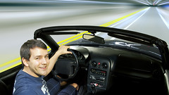 Zoom Zoom Selfie! (Bereno DMD) Tags: motion blur speed movement portait warp move zoomzoom mazda miata selfie gygo