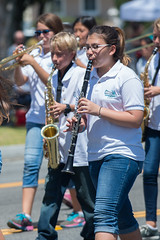 Richardson Middle School (mark6mauno) Tags: school nikon day band parade annual middle nikkor saxophone clarinet forces richardson armed torrance 2014 55th d4 70200mmf28gvr nikond4 55thannualtorrancearmedforcesdayparade