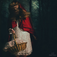 Little Red (Christopher Marrs) Tags: lighting art fairytale photomanipulation canon studio photography woods fineart fine fairy conceptual tale fineartphotography grimm studion conceptualphotography fineartportrait conceptualimage