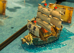 Model of Monkey D. Garp's warship from the anime One Piece (gunman47) Tags: anime closeup canon mall eos japanese one singapore sailing ship vessel mini s exhibition event animation piece figurine efs ef funan digitalife 60d