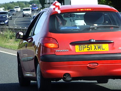 EU directive 5/2014/EEC - Warning Flag System (stevenbrandist) Tags: road england silly car football leicestershire flag soccer 206 eu law rule peugeot europeanunion distracted footie directive thebeautifulgame carflag comeonengland warningsystem worldcup2014 bp51xml
