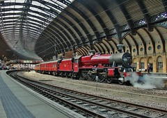 LMS Class 6P 4-6-0 No. 45699 'Galatea' at York - The Scarborough Steam Special' - 17th May 2014 (allan5819 (Allan McKever)) Tags: york uk travel roof england heritage station maroon jubilee yorkshire north transport engine loco steam locomotive railtour canopy excursion charter lms mainline galatea ecml 45699 1z75 thescarboroghsteamspecial