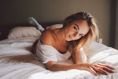 (JuanMphoto) Tags: new portrait woman sexy art girl beauty digital 35mm canon bed artist natural bokeh naturallight portraiture dslr lightroom 35l vsco vscocam