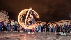 Poi fireshow in Monastiraki (alexchalatsis) Tags: street art fire europe flames performance objects athens greece burn poi acropolis fireshow attica monastiraki  misctags