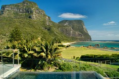 View Over Lovers Bay From Capella Lodge, Lord Howe Island, NSW, Australia (Black Diamond Images) Tags: australia lagoon views nsw accomodation capella lordhoweisland luxuryaccommodation worldheritagearea salmonbeach luxuryaccomodation mountgower capellalodge mtlidgbird thelastparadise touristaccommodation loversbay