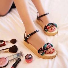 รองเท้าส้นเตี้ย แฟชั่นเกาหลีแบบแตะส้นเตารีด นำเข้า ไซส์34ถึง43 สีดำ - พรีออเดอร์RB2017 ราคา1170บาท รองเท้าสวยๆ แฟชั่นเกาหลีแบบรองเท้าแตะแฟชั่นแนวรองเท้าส้นเตารีดรุ่นใหม่สไตล์อินเทรนด์แบรนด์เนมสวยหวานน่ารัก ตัวรองเท้าแฟชั่นเป็นรองเท้าแฟชั่นหนังสังเคราะห์ผส