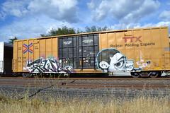 Tawl Oddone (huntingtherare) Tags: train bench graffiti boxcar freight rollingstock tbox ttx oddone benching tawl