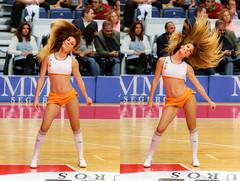 Myrian (3) (Andrés Guerrero) Tags: basketball basket cheerleaders baloncesto realmadrid palaciodelosdeportes baloncestorealmadrid