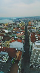Above the street (SofiaVinova) Tags: street travel roof panorama turkey town view horizon istanbul roofs journey traveling hoses bosphorus matte