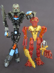 Pofaru - size comparison (Infrared from BZPower) Tags: lego bionicle toa moc