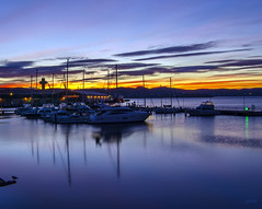 It's going to be a beautiful day..... (glendamaree) Tags: morning water sunrise boats boat dock tasmania hobart