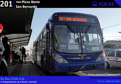 201 | Mall Plaza Norte - San Bernardo (Mr. Mobitec) Tags: chile santiago bus buses volvo 201 independencia transporte marcopolo santiagodechile transantiago transportepúblico troncal volvob7rle b7rle conchalí granviale subus marcopologranviale troncal2 subuschile volvob290r