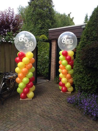 Ballonpilaar Breed Rond 65 Jaar
