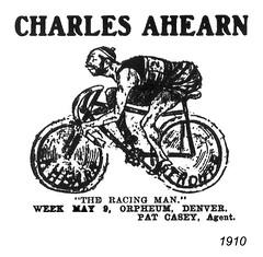 charles ahearn 1910 (Al Q) Tags: man bicycle charles racing 1910 act vaudeville ahearn