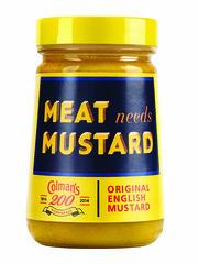 Limited edition vintage Colman's Mustard jars (FoodBev Photos) Tags: yellow vintage anniversary jar mustard condiments limitededition jars oldfashioned unilever colmansmustard englishmustard meatneedsmustard