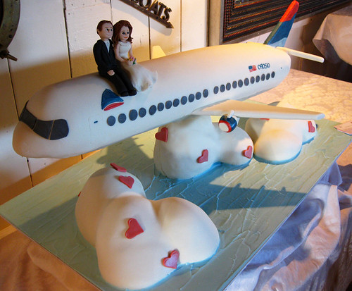 Airplane Wedding Cake Flying
