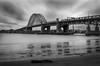 Bridge Drama (PhillymanPete) Tags: longexposure bridge philadelphia nature newjersey philly palmyra delawareriver palmyracovenaturepark taconypalmyrabridge nd110