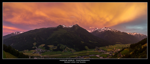 Sunset over the Tauern