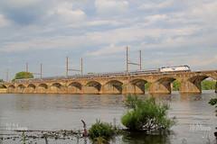 AMTK 611 (Darryl Rule's Photography) Tags: bridge river siemens trains amtrak delaware prr northeastcorridor northeastregional acs64citiessprinter