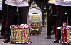 Guard Mount 013 - Drums (tony.evans) Tags: music castle soldier drums march scotland key bass flag military pipes guard band trumpet scottish parade trombone horn bagpipes tuba gibraltar convent saxophone clarinet regiment cornet ceremonial royalgibraltarregiment ceremonialguardmount