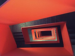 IMG_20140704_101928_1 (@wawaweewa) Tags: orange abstract black art geometric architecture stairs handy way focus stair long paint view samsung down center front stairway upstairs artsy smartphone frame symmetric middle noise downstairs minimalist repose handycam tunnelvision iphone symmetrie perspectiv handypic samsunggalaxy galaxys4