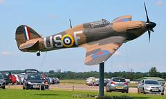 Hurricane Welcomes You At North Weald... (colinfpickett) Tags: plane war fighter hurricane ww2 essex raf hawker northweald vintageplane classicplane famousplane