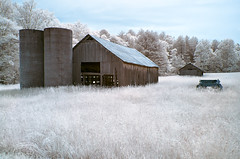 Twin Silos (shutterclick3x) Tags: barn ir countryside infrared silos backroads georgialandscape frankloose