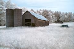 Twin Silos (shutterclick3x) Tags: barn ir countryside infrared silos backroads georgialandscape frankloose