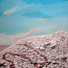 Rock Piles 4, S-Pile, Acrylic on Canvas, 100 x 100cm, 2014 (kay are eye ess) Tags: art rock painting graffiti rocks acrylic tags boulders piles rockpiles representational
