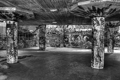 The Undercroft - Southbank - London - Mono (ArtGordon1) Tags: blackandwhite thames graffiti blackwhite southbank riverthames davegordon undercroft davidgordon theundercroft skaterspark artgordon1 daveartgordon daveagordon davidagordon