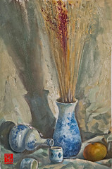My oil painting b (VO THI KHANH HOA) Tags: stilllife fruits pottery oilpainting handdrawing