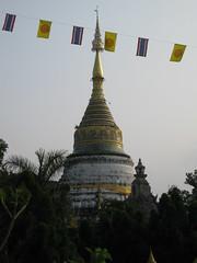 A bell shaped stupa adjoining the wat (oldandsolo) Tags: thailand southeastasia stupa buddhism chiangmai wat highstreet buddhisttemple norththailand buddhistshrine watbuppharam buddhistreligion chiangmaistreet buddhistfaith chiangmaitraffic downtownchiangmai