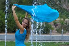 Davinia (jlhuys farfan) Tags: woman girl azul mujer model agua chica modelo pauelo davinia farfan