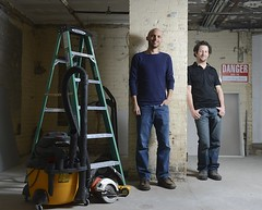 Founders of Toronto Tool Library, Lawrence (left) and Ryan (right)