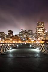 Pier 14 (toekneestuck) Tags: sanfrancisco california longexposure fog skyline night pier unitedstates longshutter pier14