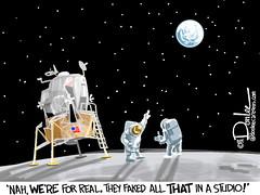 SR cartoon 45 moon (DSL art and photos) Tags: eagle columbia conspiracy apollo moonlanding editorialcartoon spaceflight apollo11 buzzaldrin neilarmstrong seaoftranquility 45thanniversary mikecollins donlee