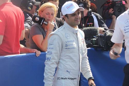 Feline Massa after qualifying for the 2014 German Grand Prix