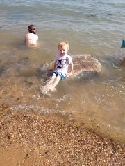 Charlie at Southend aged 3 (Carol B London) Tags: sea lauren seaside charlie mermaid southend inthesea aged3 flickrandroidapp:filter=none