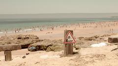 Praia (JSEBOUVI : thanks for 1.9 million views !) Tags: people praia beach portugal danger mar photo sand holidays flickr areia sable panneau estoril atlantique marebasse scurit twitter 500px society6 jsebouvi