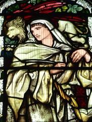 Birmingham - St Martin in the Bull Ring - The Burne Jones Window (Glass Angel) Tags: birmingham stainedglass burnejones birminghamstmartininthebullringtheburnejoneswindow