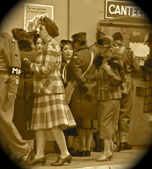 IMG_5833 (petefreeman75) Tags: uk costumes england costume cosplay wwii hats railwaystation 1940s ww2 heels uniforms allrightsreserved furs nylons nymr warweekend 2013 seamedstockings wartimeweekend railwayatwar pickeringwartimeweekend pellison petefreeman