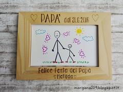 Cornice festa del Papà_03w (Morgana209) Tags: fathersday festadelpapà cornice portafoto legno pirografo handmade faidate pyrography regalo speciale dono bambini papà padre creatività pensierispeciali