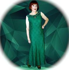 DSC08131CK3 (msdaphnethos) Tags: transgender crossdress emeraldgreen redhead gown daphnethomas