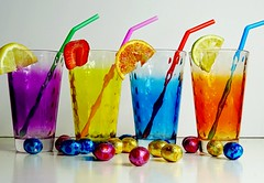 Easter Drinks (Clare-White) Tags: mpt538 matchpointwinner glasses colour vivid drinks eggs straws 4