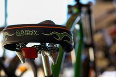 Electra (Epameinondas M) Tags: electra electrabicycle bike bicycleseat electraratfink green bokeh 85mm canon6d canon